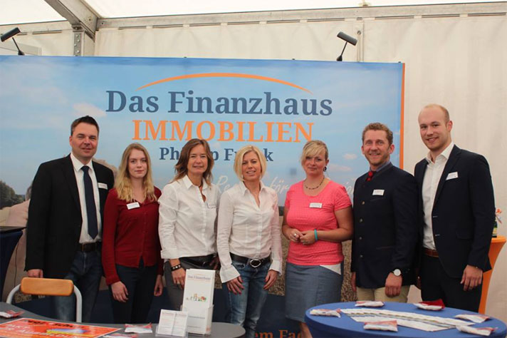 Messestand Finanzhaus Immobilien Bad Segeberg